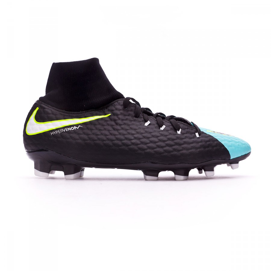 8a219ca1610 Football Boots Nike Hypervenom Phelon III DF FG Light aqua-White-Black-Volt  - Tienda de fútbol Fútbol Emotion