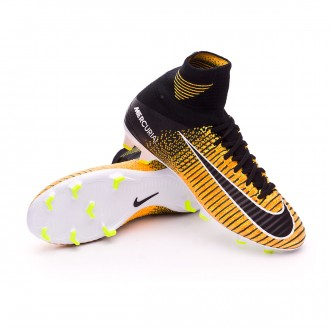 Jr Mercurial Superfly V DF FG Laser orange-Black-White-Volt