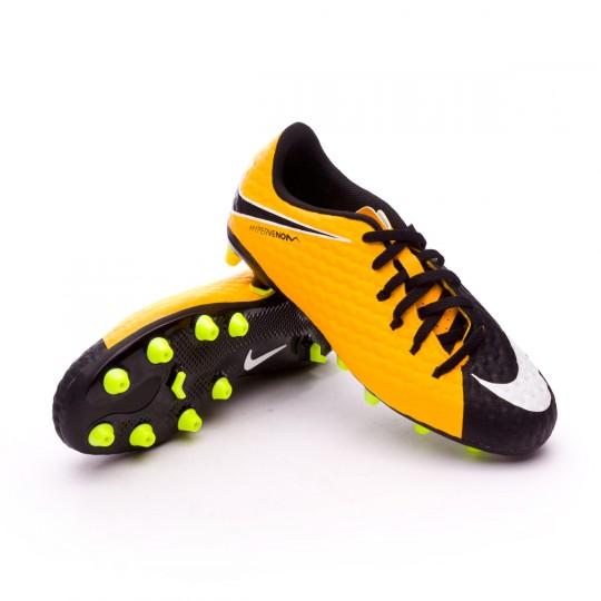Bota  Nike Hypervenom Phelon III AG-Pro Niño Laser orange-White-Black-Volt