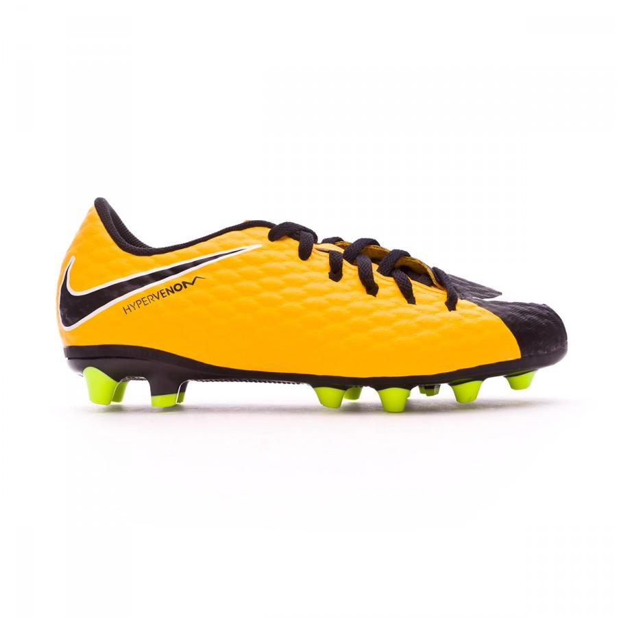 new style 5ab73 6ac5b Football Boots Nike Kids Hypervenom Phelon III AG-Pro Laser  orange-White-Black-Volt - Football store Fútbol Emotion