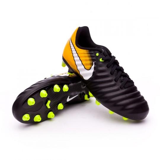 Chaussure  Nike Jr Tiempo Ligera IV AG-Pro Black-White-Laser orange-Volt