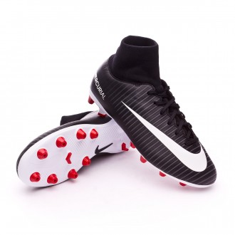 Chuteira  Nike Jr Mercurial Victory VI DF AG-Pro Black-White-Dark grey-University red