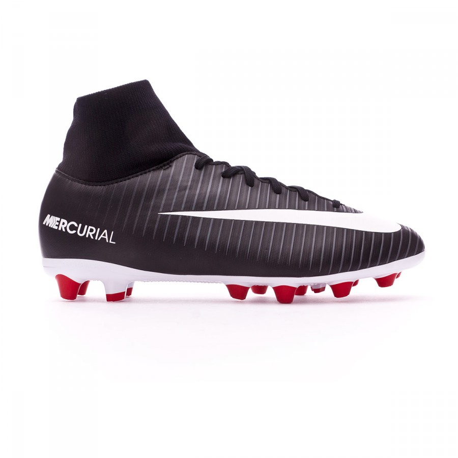 e6c68cbb0477 Football Boots Nike Kids Mercurial Victory VI DF AG-Pro Black-White-Dark  grey-University red - Football store Fútbol Emotion