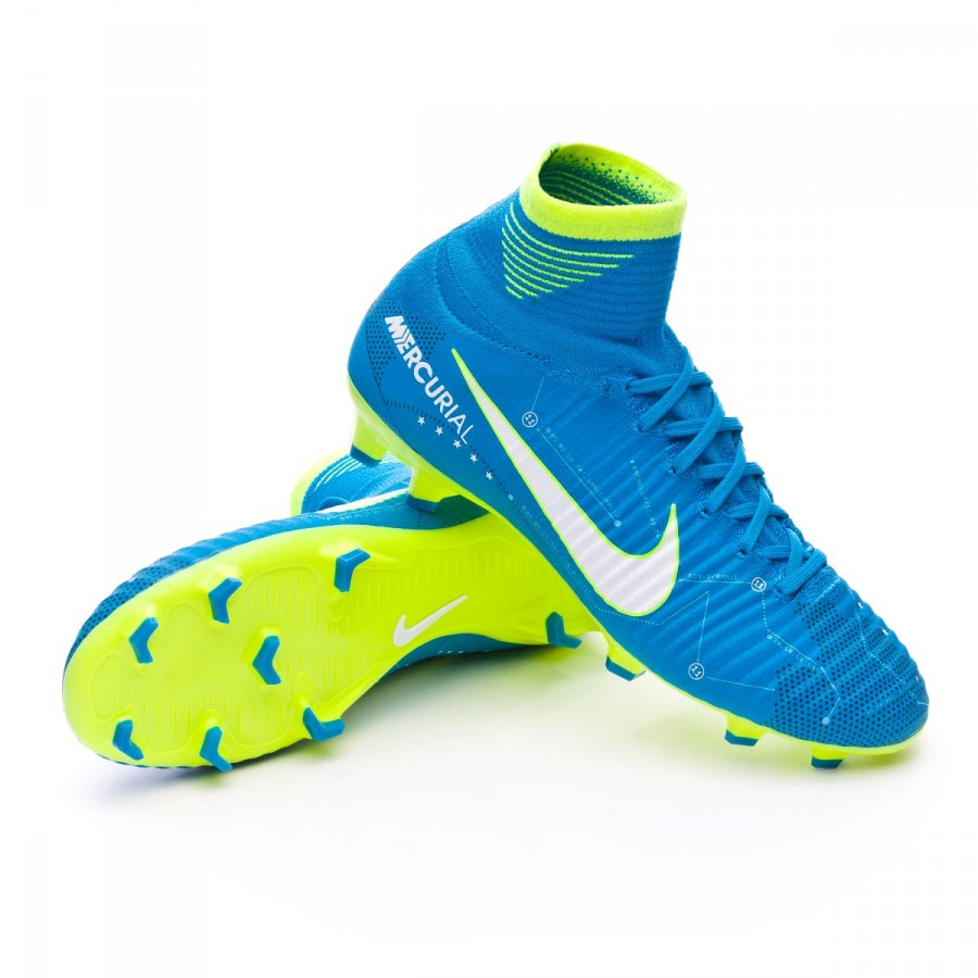 6500d51ed58 Chuteira Nike Jr Mercurial Superfly V DF FG Neymar Jr Blue orbit ...