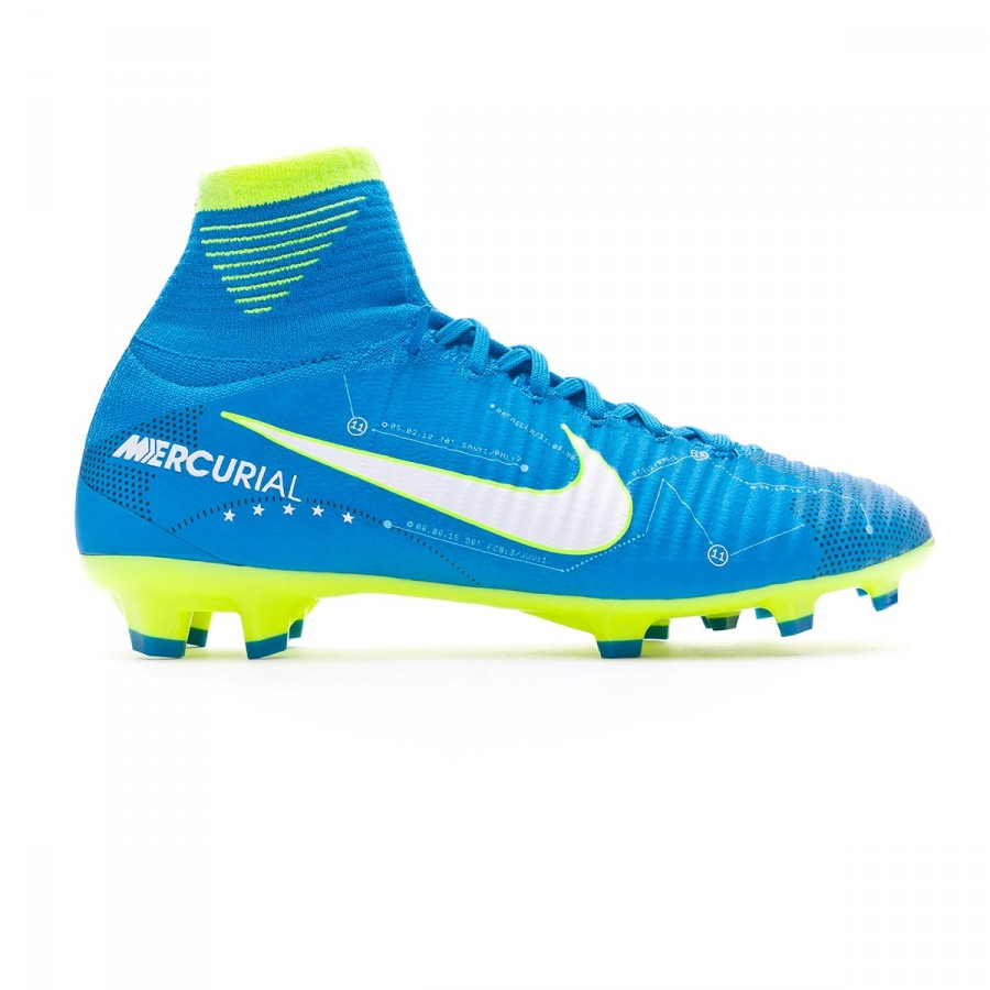 e5f5ffce6 Football Boots Nike Kids Mercurial Superfly V DF FG Neymar for Blue  orbit-White-Armory navy - Tienda de fútbol Fútbol Emotion