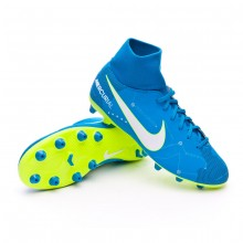 c652c17909e74 Bota de fútbol Nike Mercurial Victory VI DF AG-Pro Neymar Niño Blue ...
