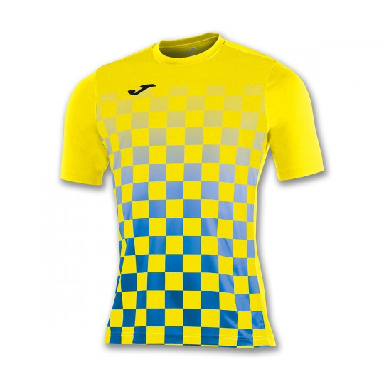 Camiseta  Joma Flag m/c Amarillo-Azul royal