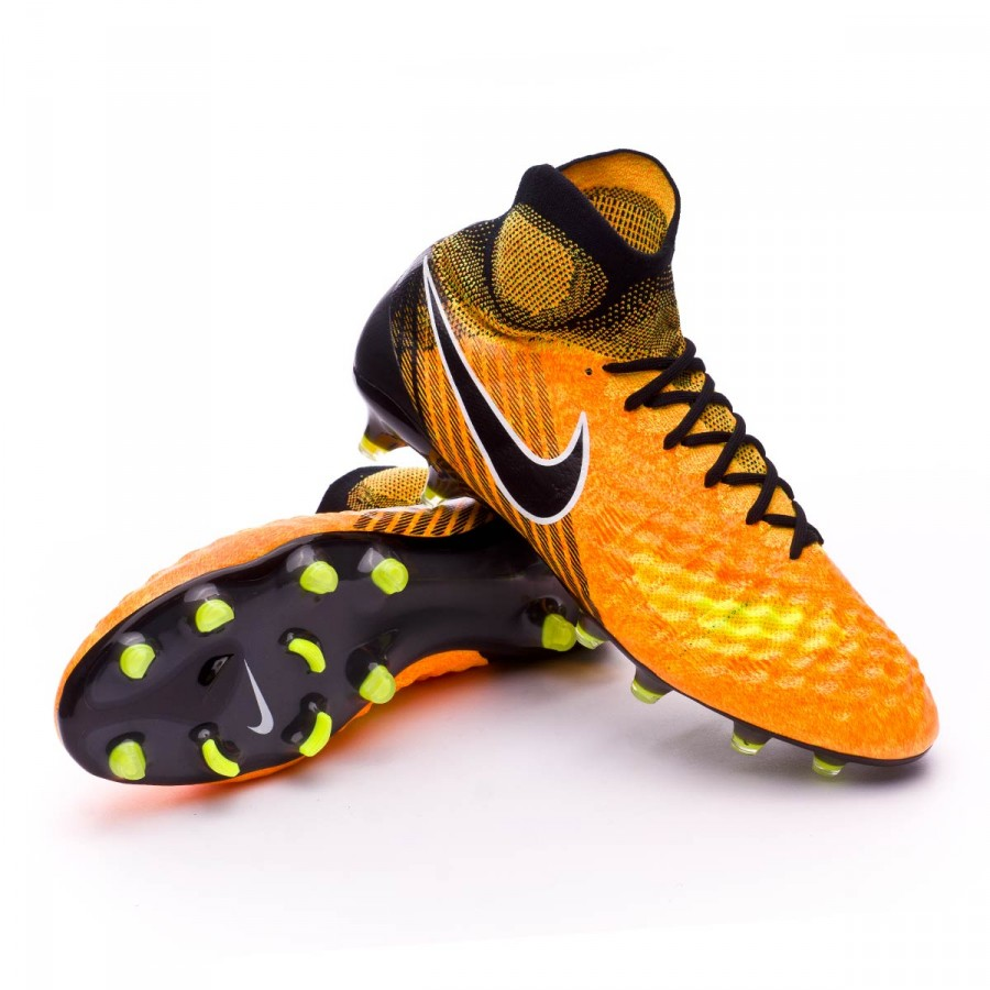 Bota Magista Obra II ACC FG Laser Orange Black white Volt
