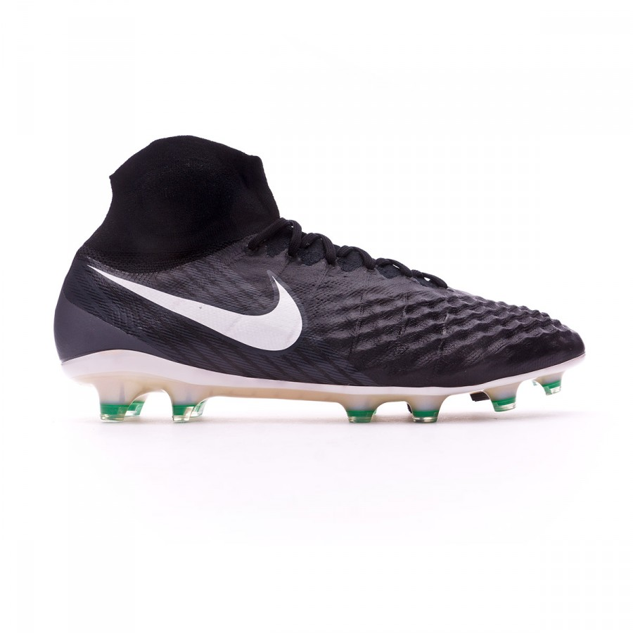 38c051fb55f4 Boot Nike Magista Obra II ACC FG Black-White-Cool grey-Stadium green -  Football store Fútbol Emotion