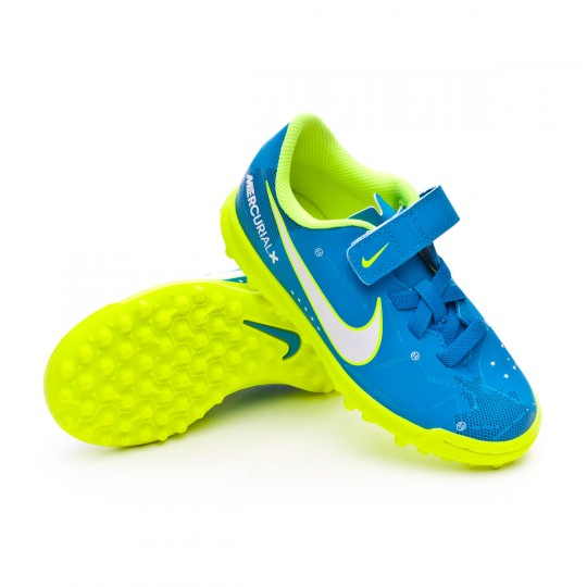 Chaussure  Nike Jr Mercurial Vortex III Velcro Turf Neymar Jr Blue orbit-White-Armory navy