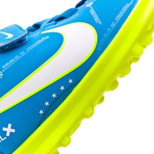 Zapatilla Nike Mercurial Vortex III Velcro Turf Neymar Niño Blue ... 9e10f940997cc