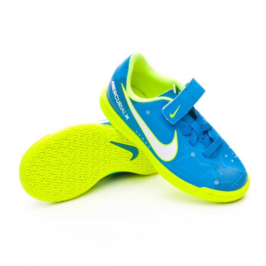 Zapatilla  Nike Mercurial Vortex III Velcro IC Neymar Niño Blue orbit-White-Armory navy