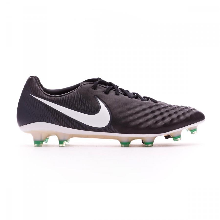 1ff1fb94ff3c Football Boots Nike Magista Opus II ACC FG Black-White-Cool grey-Stadium  green - Football store Fútbol Emotion