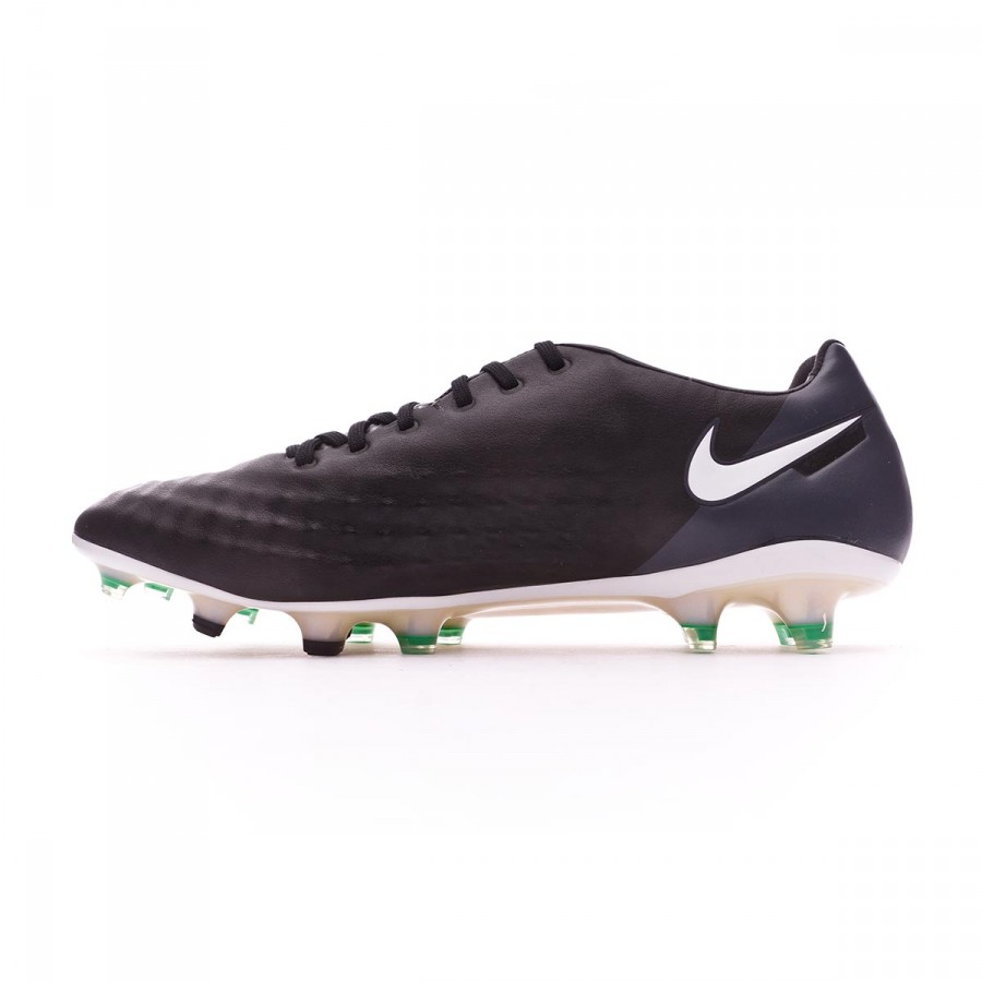 cdabca1e3 Football Boots Nike Magista Opus II ACC FG Black-White-Cool grey-Stadium  green - Football store Fútbol Emotion