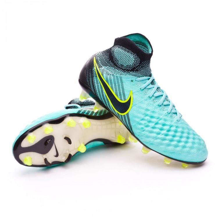 7af3cebc504 Football Boots Nike Magista Obra II ACC FG Light aqua-Black-Igloo ...