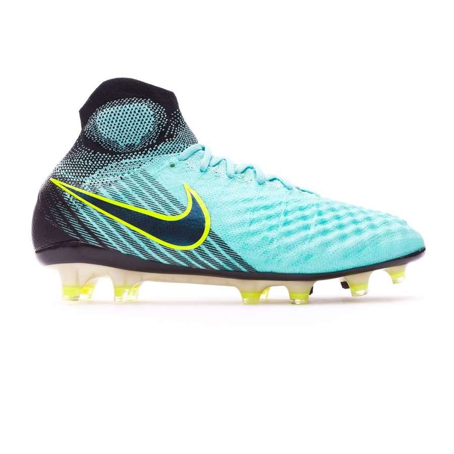 5e4658f0c57 Football Boots Nike Magista Obra II ACC FG Light aqua-Black-Igloo-Volt -  Football store Fútbol Emotion
