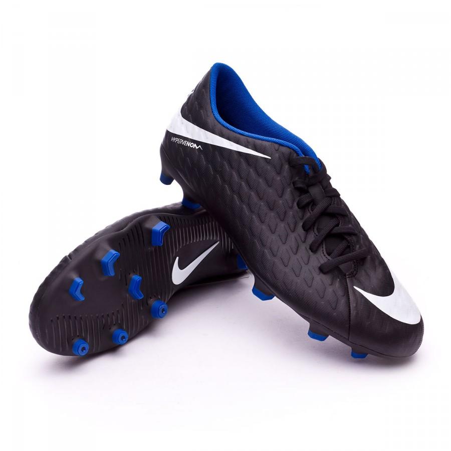 7b5694ad2263 Football Boots Nike Hypervenom Phade III FG Black-White-Game royal ...