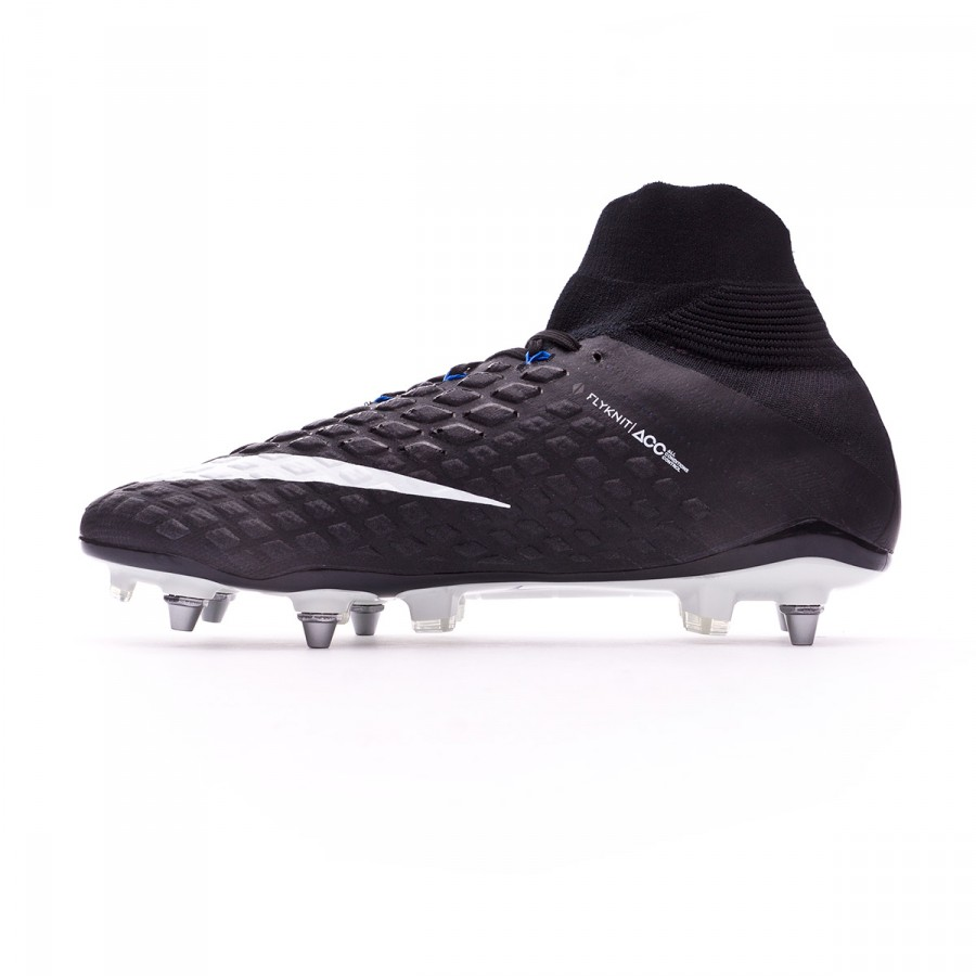 quality design c31b3 036ce Bota Hypervenom Phantom III ACC DF SG-Pro Black-White-Game royal