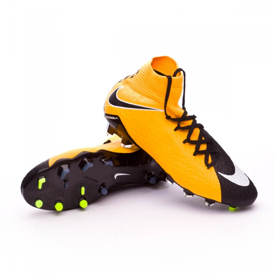 5bb4f9341131 Nike Hypervenom Phatal III DF FG Football Boots. Laser orange-Black-White-Volt  ...