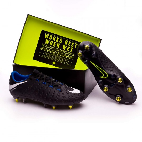 Bota  Nike Hypervenom Phantom III SG-Pro Anti-Clog Black-White-Game royal