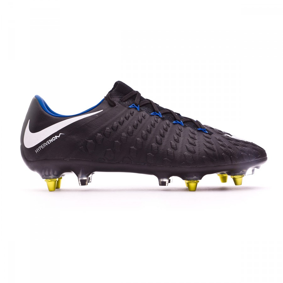 buy popular fbf2f d88bc ... Bota Hypervenom Phantom III SG-Pro Anti-Clog Black-White-Game royal.  CATEGORY