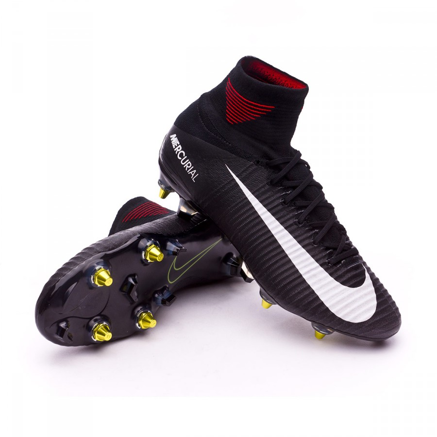 a7f067dbdcc92 Football Boots Nike Mercurial Superfly SG-Pro Anti-Clog Black-White ...