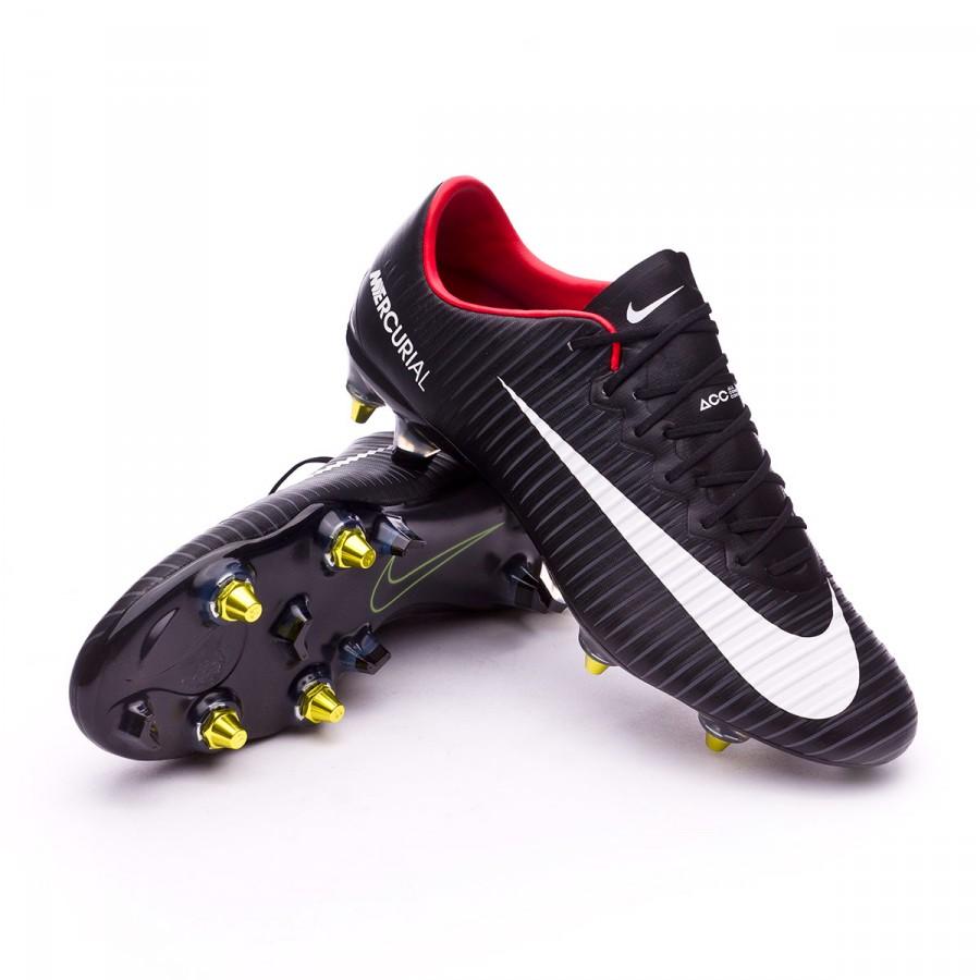 ba5c203a1 Football Boots Nike Mercurial Vapor XI SG-Pro Anti-Clog Black-White ...