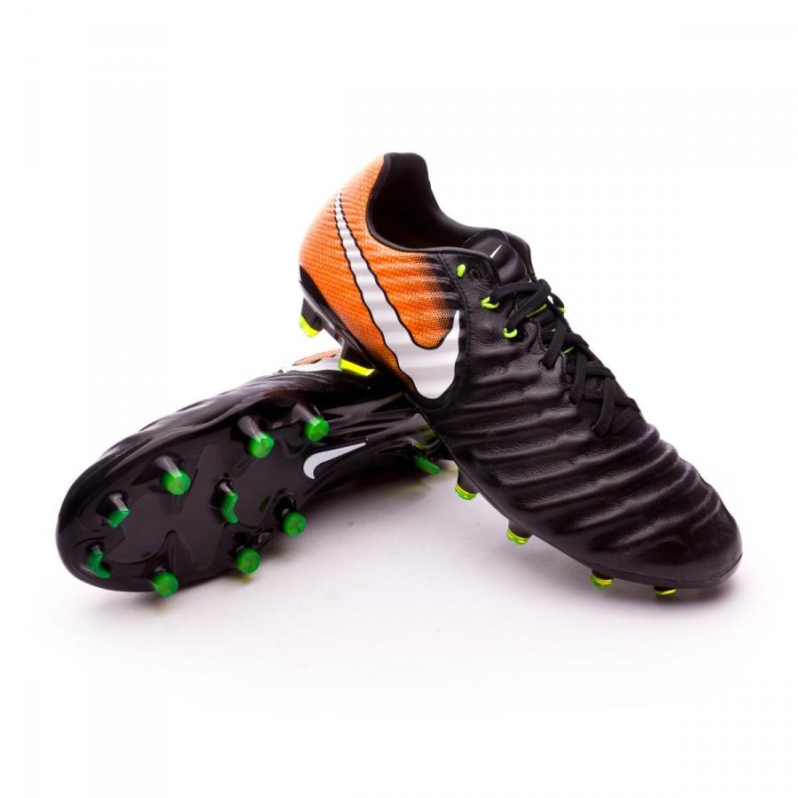 cf8e6c72eae Nike Tiempo Legacy III FG Football Boots. Black-White-Laser orange-Volt ...