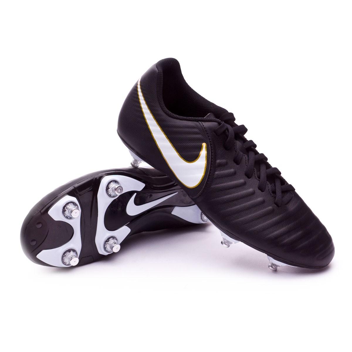 19ff24fda0b9 Football Boots Nike Tiempo Rio IV SG Black-White - Tienda de fútbol ...