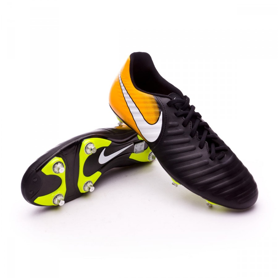 new styles b8e03 a2dc2 Chaussure de foot Nike Tiempo Rio IV SG Black-White-Laser orange-Volt -  Boutique de football Fútbol Emotion