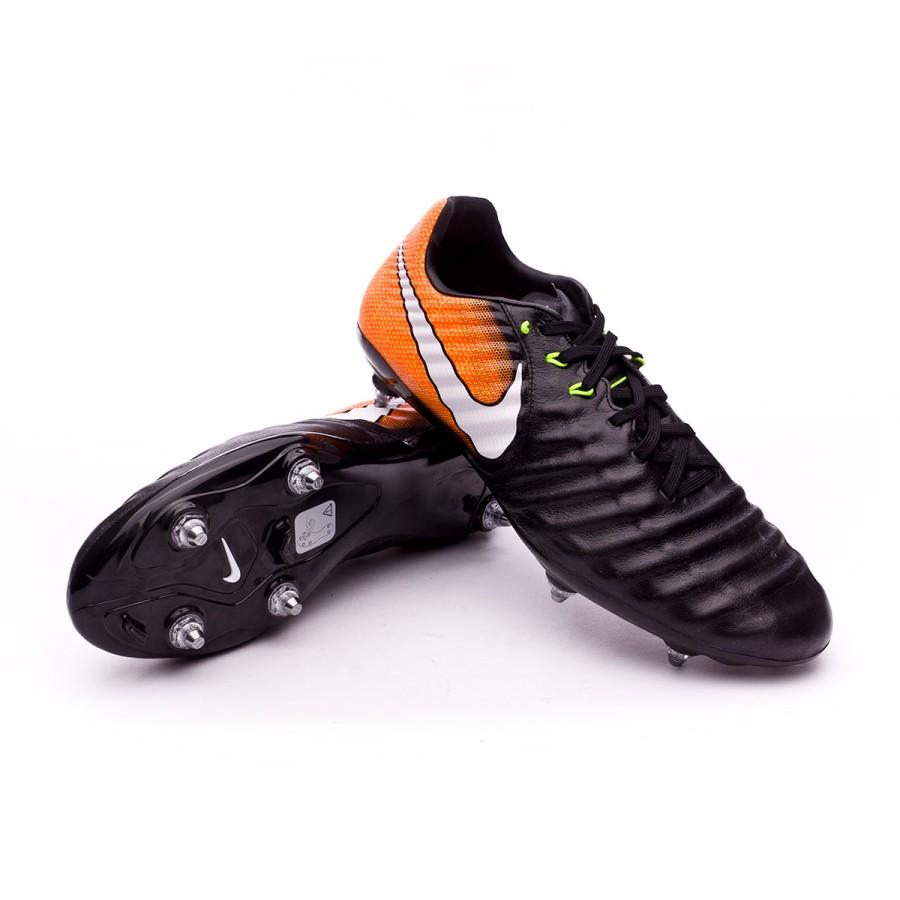 Nike Tiempo Legacy III SG Boot. Black-White-Laser orange-Volt ... 751eebc13d6c