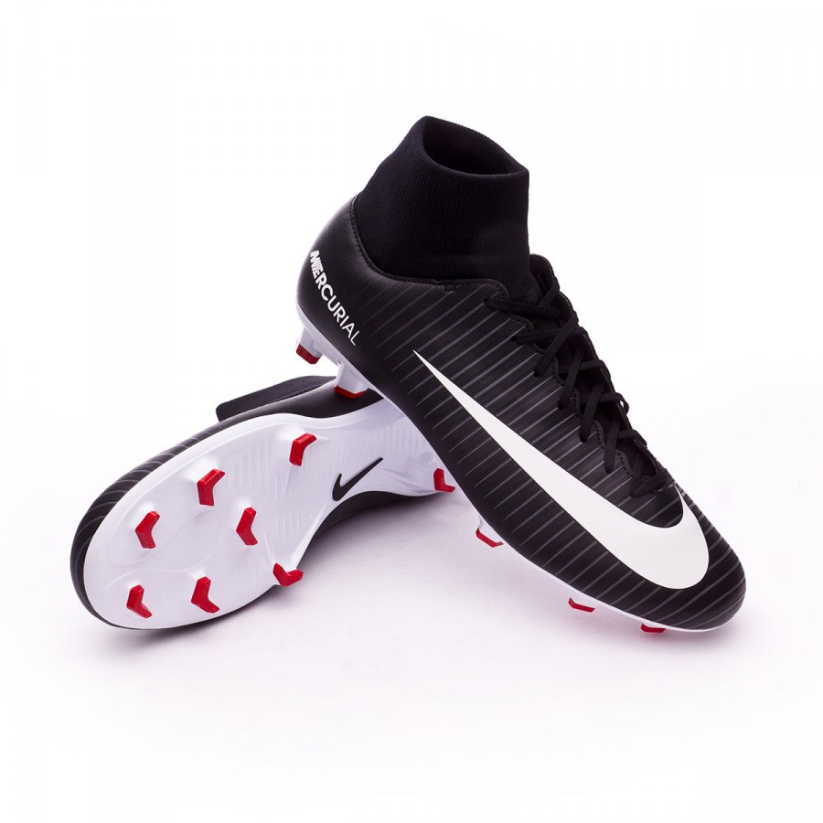 bc1fe83c73ce9 Football Boots Nike Mercurial Victory VI DF FG Black-White-Dark grey ...