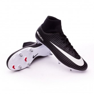 Chuteira  Nike Mercurial Victory VI DF SG Black-White-Dark grey-University red