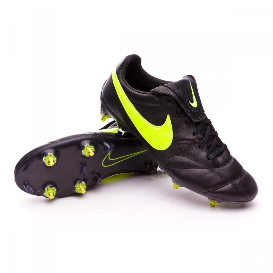 más y más herir Romper  Football Boots Nike Tiempo Premier II SG-PRO Anti-Clog Traction Black-Volt  - Football store Fútbol Emotion