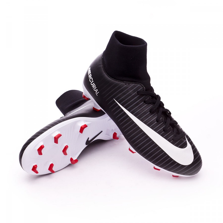 effffe4306c Football Boots Nike Jr Mercurial Victory VI DF FG Black-White-Dark ...