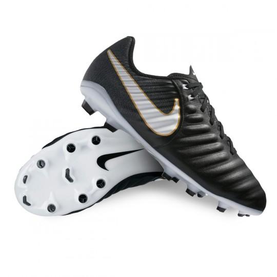 Chaussure  Nike Jr Tiempo Ligera IV FG Black-White