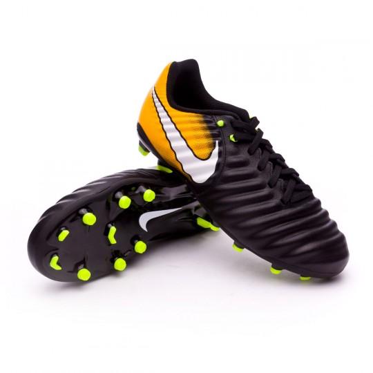 Chaussure  Nike Jr Tiempo Ligera IV FG Black-White-Laser orange-Volt
