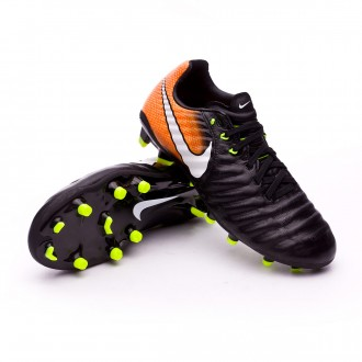 Chuteira  Nike Jr Tiempo Legend VII FG Black-White-Laser orange-Volt