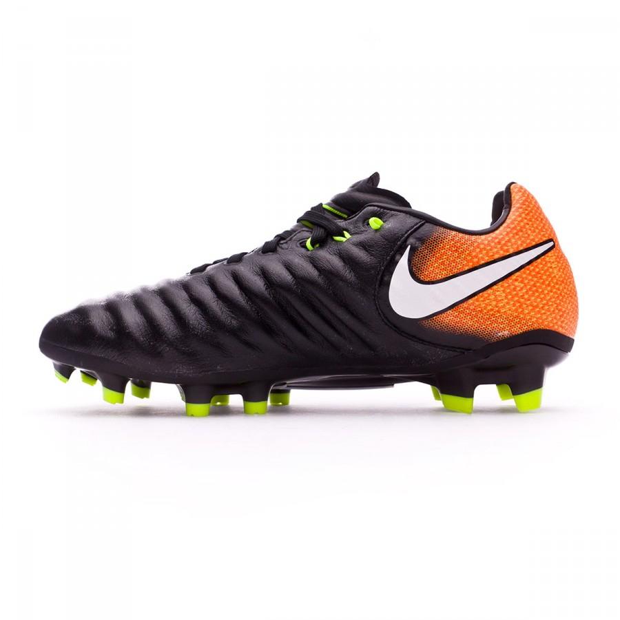 3b8584920dc66 Football Boots Nike Kids Tiempo Legend VII FG Black-White-Laser orange-Volt  - Football store Fútbol Emotion