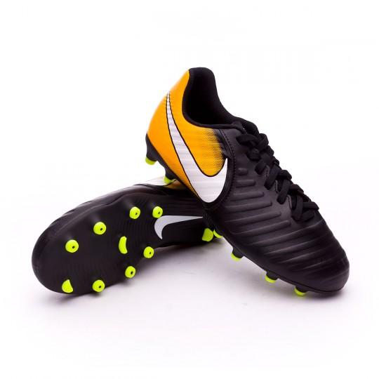 Chaussure  Nike enfant Tiempo Rio IV FG Black-White-Laser orange-Volt