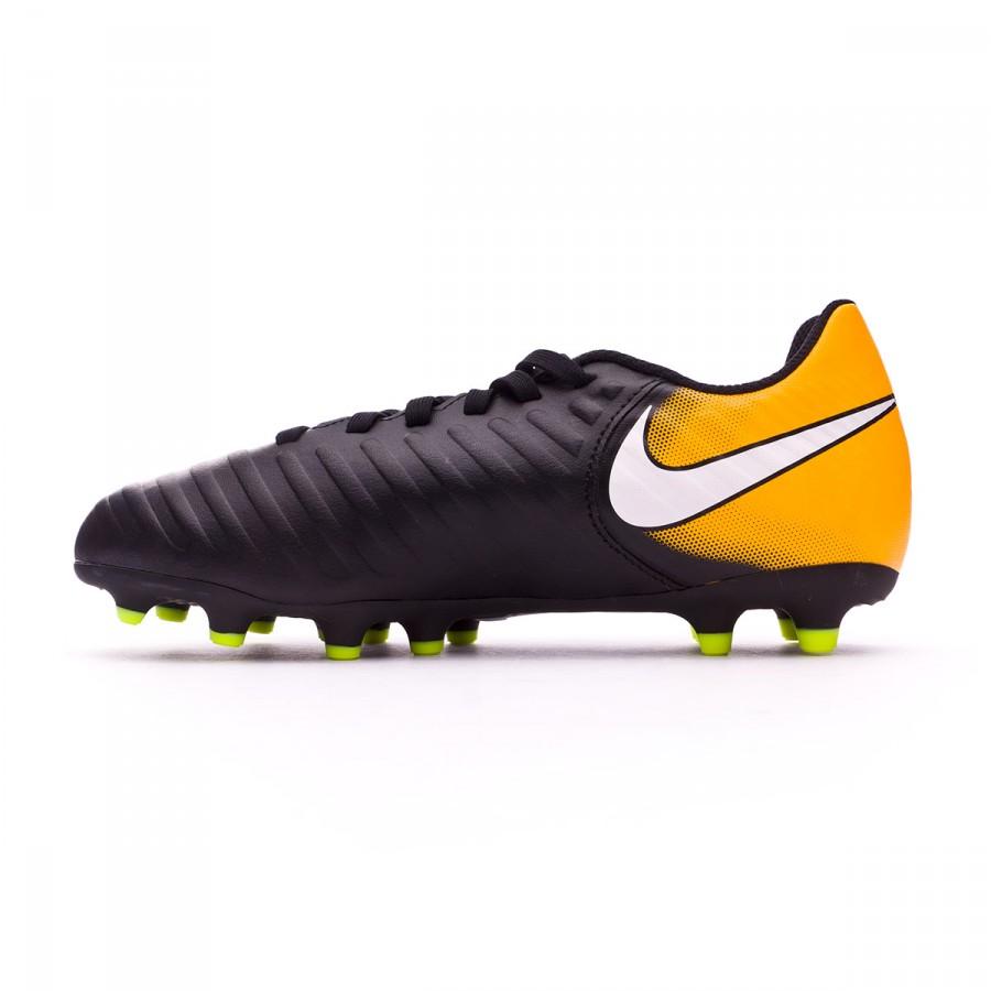 aced306706536 Bota de fútbol Nike Tiempo Rio IV FG Niño Black-White-Laser orange-Volt -  Tienda de fútbol Fútbol Emotion