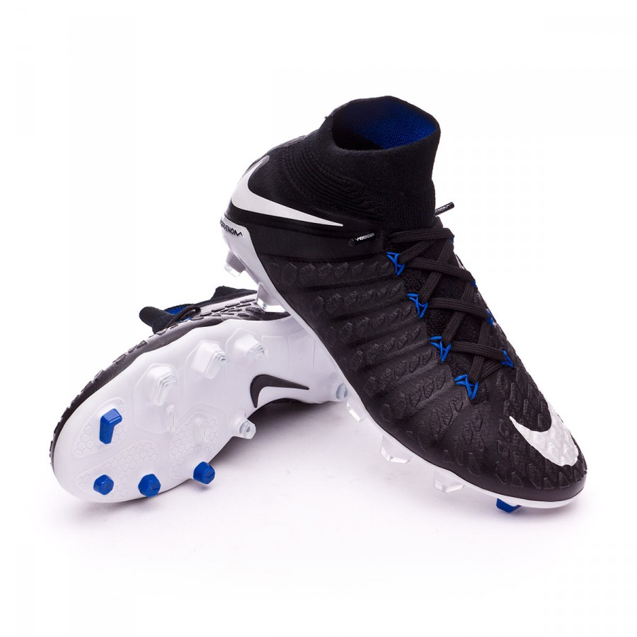 ce3cdd18ad2 Nike Jr Hypervenom Phantom III DF FG Football Boots. Black-White-Game ...