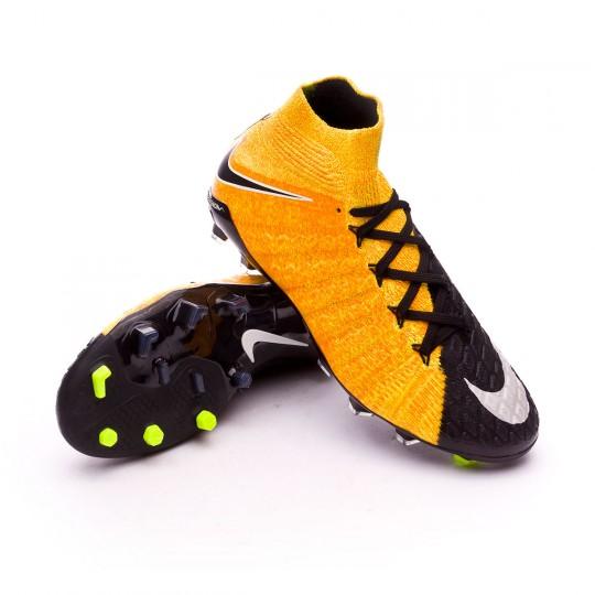 Bota  Nike Hypervenom Phantom III DF FG Niño Laser orange-Black-White-Volt