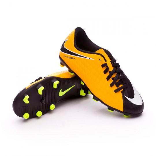 Bota  Nike Hypervenom Phade III FG Niño Laser orange-Black-White-Volt