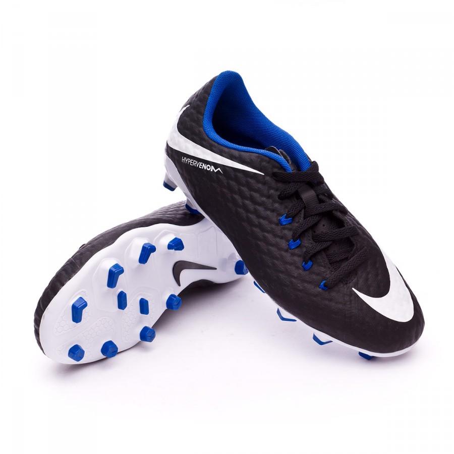 54e5593aa6e7 Boot Nike Jr Hypervenom Phelon III FG Black-White-Game royal - Soloporteros  is now Fútbol Emotion