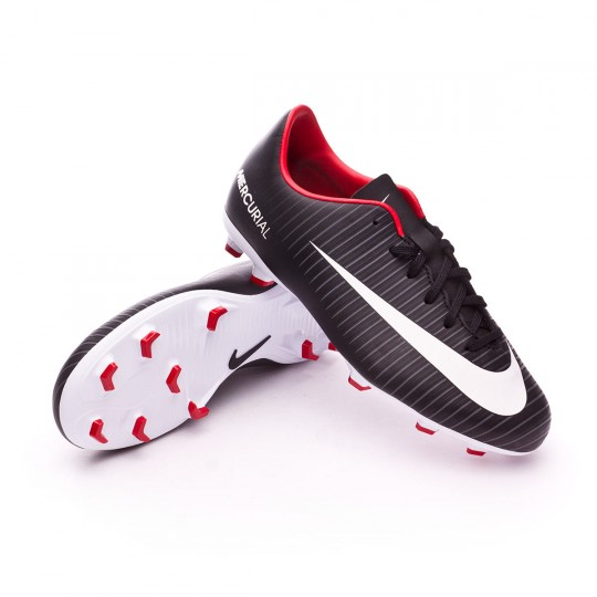 Bota  Nike jr Mercurial Victory VI FG Black-White-Dark grey-University red