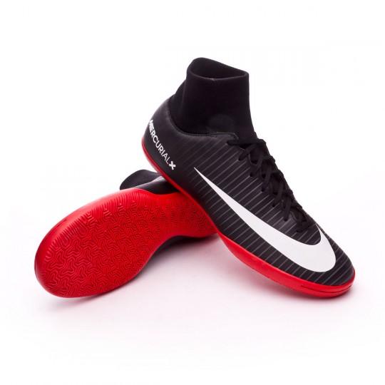 Zapatilla de fútbol sala  Nike MercurialX Victory VI DF IC Black-White-Dark grey-University red