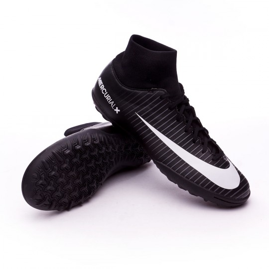 Zapatilla de fútbol sala  Nike MercurialX Victory VI DF Turf Black-White-Dark grey-University red