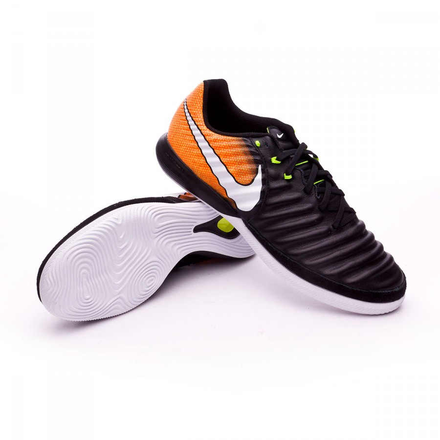 ace3477e592 Nike TiempoX Finale IC Futsal Boot. Black-White-Laser orange-Volt ...