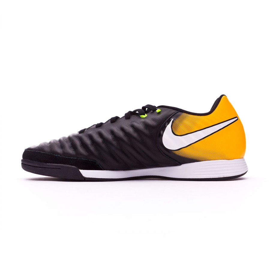on sale a0265 c7844 Zapatilla Nike TiempoX Ligera IV IC Black-White-Laser orange-Volt - Tienda  de fútbol Fútbol Emotion